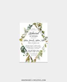 Fall Rehearsal Dinner Printable Template Greenery Wedding image 4