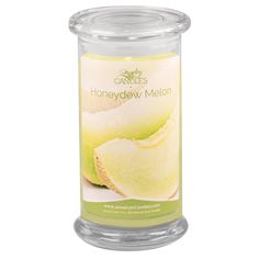 Cool slices of sun-kissed melon with hints of pineapple, strawberry, apricot, and vanilla, delivered fresh from the farm. Natural soy scented candles and tarts with jewelry inside.  Infused with natural fragrance oils.  Full size 21oz scented candle  100% all natural Soy candle   Burns for 100 to 150 hours.   Includes a surprise piece of jewelry in every candle.  Looking for candles with jewelry? Try Jewelry In Candles, jewelry hidden inside every candle!