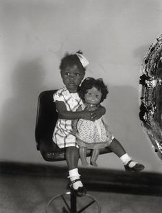Henry Clay Anderson, Little Girl with a Black Doll in the Studio, ca. 1960