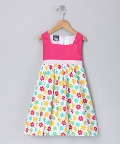 Take a look at this Pink Floral Polka Dot Dress - Toddler & Girls  by So La Vita on #zulily today!