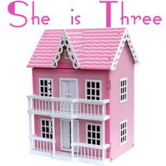 Classic Wooden Dollhouse With Furniture Gifts For 3 Year Old Girls, 3 Year Olds, Pink Doll, Wooden Dollhouse, Kids Corner, Toddler Preschool, My Baby Girl, Girl Gifts, Pretty In Pink