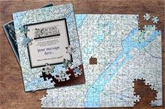 Hometown Puzzle - Map jigsaw puzzle custom made for your address