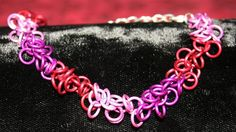 All the Pinks Shaggy Loops Weave Braclet - Adjustable Size.  CURRENTLY OUT OF STOCK