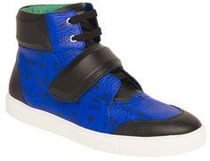 MCM High Top Sneaker (Royal Blue)