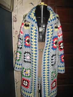 Granny squares hand   CROCHET   sweater by Linsvintageboutique, $45.50