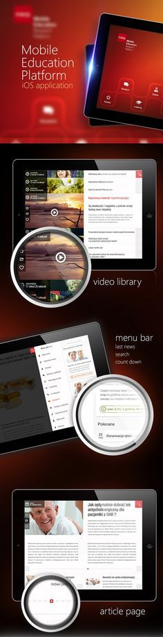 Education platform concept (iOS) by Jarek Pastuszak *** #ui #gui #iphone #behance#UI #Ux #design #apps #mobile #inspiration
