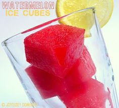 Watermelon Ice Cubes, won't water down your drink and adds subtle watermelon flavor!