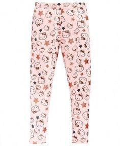 Hello Kitty Glitter-Star Leggings, Little Girls - Pink 5 Little Girl Leggings, Toddler Leggings, Girls Leggings, Leggings Are Not Pants, I Love Glitter Font, Glitter Girl, Glitter Stars, Grey Leggings Outfit, Pink Leggings