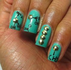 Chemical structure manicure / nails