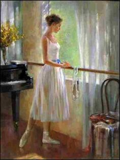 By the Window Art Print by Kelvin Lei. All prints are professionally printed, packaged, and shipped within 3 - 4 business days. Art Ballet, Ballerina Painting, Ballerina Art, Ballerina Silhouette, Guangzhou, Fine Arts College, Dance Paintings, Window Art, Figure Painting
