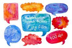 Check out Watercolor speech bubble set by natsa on Creative Market
