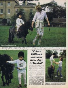 """Wonder if Kate knows about this and calls him """"Wombat"""" sometimes?  News of the World Sunday Magazine 9/21/1985"""
