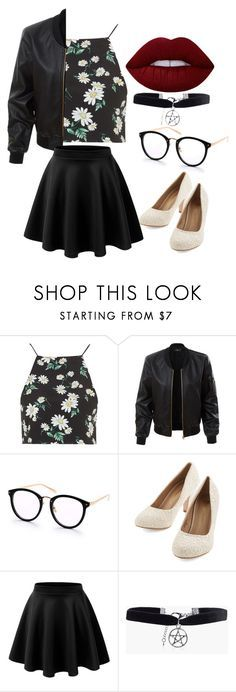 """outfit"" by hjeanb on Polyvore featuring Topshop, LE3NO, Boohoo and Lime Crime"