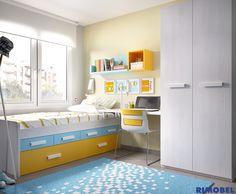 H_155 Color, diversión en nuestra gran gama de camas compactas, armarios, zonas de estudio...