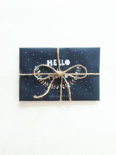 Hello I love You - valentine's day gift card, Greeting Card Set - Geometry - Typography - Blank - Kraft Envelope on Etsy, $43.79 HKD