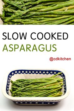 This is a great way to cook fresh asparagus that isn't as tender to cook by other methods. It's perfect for those thicker stalks, just be sure to trim off the tough woody ends. | CDKitchen.com