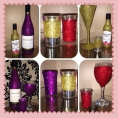 Glittered Glasswear.. handmade and glittered up..made to order..