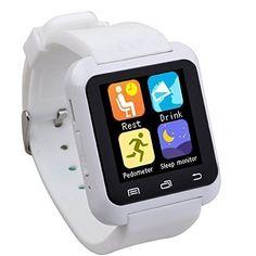 EasySMX Bluetooth 4.0 Multi-idiomas Reloj Inteligente Smartwatch con la Pantalla Táctil Compatible con Android Smartphones tales como Samsung, HTC, Sony (Blanco), http://www.amazon.es/dp/B015ZN6O8I/ref=cm_sw_r_pi_awdl_Nq4ywb1TV0D34