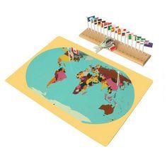 Materil Montessori Mapa Do Mundo, bandeiras e Suporte Para As Crianças Precoce Desenvolvimento Educacional Brinquedo De Madeira em Brinquedos de matemática de Brinquedos Hobbies & no AliExpress.com | Alibaba Group