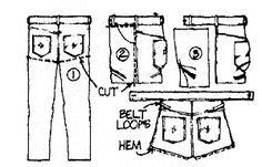 tool belt from jeans tutorial - from Russ' old jeans for Matthew and Ty.