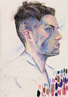 "Elizabeth Peyton ""Brandon Flowers"" 2009 Via Gladstone Elizabeth Peyton, Portraits, Portrait Art, Illustrator, Brandon Flowers, Color Pencil Art, Color Art, Colour, David Hockney"