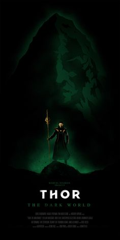 "Thor: The Dark World illustrated poster - ""Loki"" by Oli Riches, via Behance"