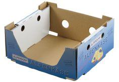 Käse-#Stapelsteigen • Stabile Logistikeinheit mit rationellem Handling und hoher optischer Wirkung im Regal. • Den Anforderungen des Handels entsprechende #Abpacklösung in offsetkaschierter, doppelwelliger Zuschnittskonstruktion • #T4P, #Wellpappe, #Mopro Der Handel, Magazine Rack, Packing, Storage, Box, Decor, Create, Products, Bag Packaging