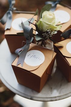 Great idea from @Glitter Guide - provide take-out boxes for #leftovers for your guests!