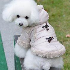 Adorável estilo britânico Botão da buzina agasalho com capuz para Animais de estimação Cães (tamanhos variados) – BRL R$ 52,20