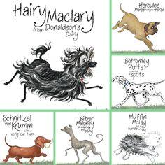 Hairy maclary colouring