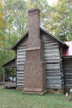 Handmade brick chimney