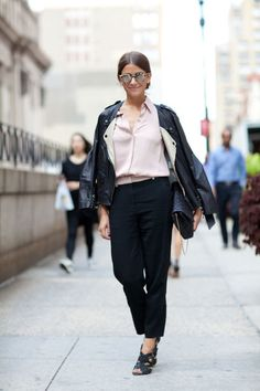 BAZAAR's Amanda Weiner is a blend of edgy and ladylike in a 3.1 Phillip Lim moto…
