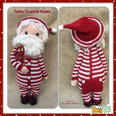 Patroon van schattige kerstman