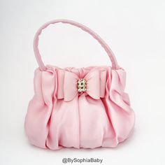 Baby Handbag Purse Baby Pink Purse Flower Girl by BySophiaBaby