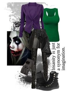 """The Joker"" by riotofthedamned ❤ liked on Polyvore featuring A.F. Vandevorst…"