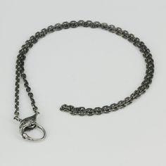 MANSONDAVID Biker Necklace 925 Sterling Silver Necklace w Eagle Hawk Clasp #MANSONDAVID #Choker