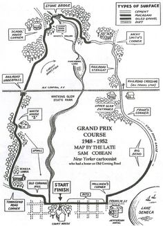 Grand Prix Race Course in Watkins Glen, NY, from 1948 to 1952.