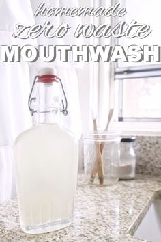 learn how to make homemade, zero waste mouthwash with www.goingzerowaste.com