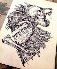 """""""Werewolf and vampires did exist, and she was in the middle .- """"Lobisomem e vampiros existiam de fato, e ela estava no meio de uma g… """"Werewolf and vampires did exist, and she was in the middle of a… # Werewolf # amreading # books # wattpad - Tattoo Drawings, Body Art Tattoos, Art Drawings, Tattoo Ink, Tattoo Sketches, Drawing Art, Wolf Tattoos, Tatoos, Tattoo Crane"""