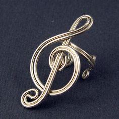 TUTORIAL  Treble Clef Ear Cuff and Ring by GailaviraTutorials, $5.00