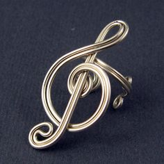 TUTORIAL  Treble Clef Ear Cuff and Ring by GailaviraTutorials, $5.00