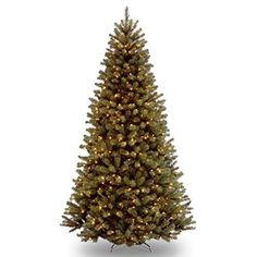 Santa's Little Helper Collection 9' North Valley Spruce Hinged Tree with 700 Clear Lights