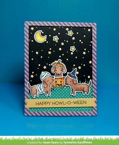 the Lawn Fawn blog: Lawn Fawn Intro: Happy Howloween, Stitched Tree Borders
