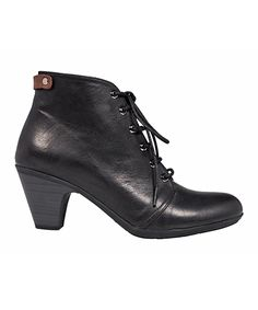 Love this YOOPi Black Leather Bootie by YOOPi on #zulily! #zulilyfinds