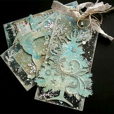.Beautiful tags. I love the sparkle.