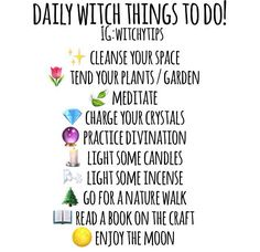 daily witchy ideas