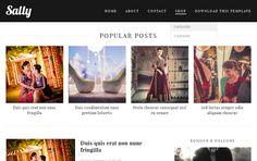 Sally Blogger Template | Cloud Templatez