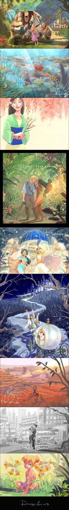 Disney fan art by fukamatsu