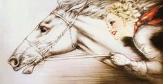 "My most prized possession. Louis Icart's ""Thoroughbreds"""