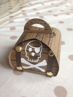 Curvy Keepsake Box Pirate's Treasure Chest, perfect to fill with chocolate coin treasure!